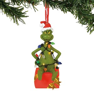 Universal Department 56 Ornament - Grinch - Grinch in Lights Lit
