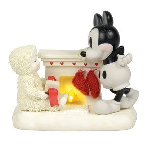 Disney Department 56 Snowbabies - At the Mantel with Mickey