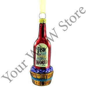 Disney Ornament - 2018 Epcot Food and Wine Festival Wine Bottle