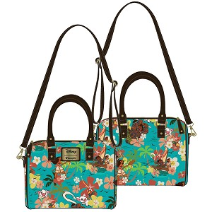 Disney Loungefly Faux Leather Mini Duffle Bag - Moana Maui Pua Hei Hei
