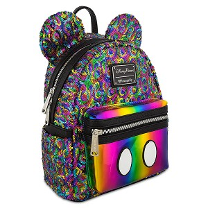 Disney Mini Backpack - Rainbow Mickey Sequin by Loungefly