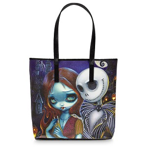 Disney Tote Bag - Jack and Sally by Jasmine Becket-Griffith