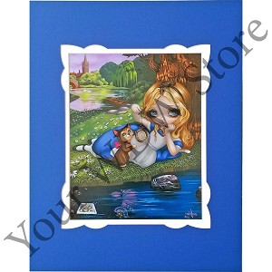 Disney Artist Print - Alice and Dinah by Jasmine Becket Griffith