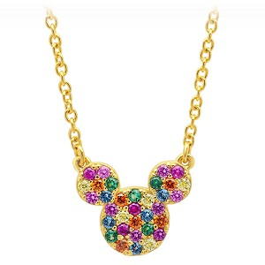 Disney Crislu Necklace - Rainbow Mickey Icon