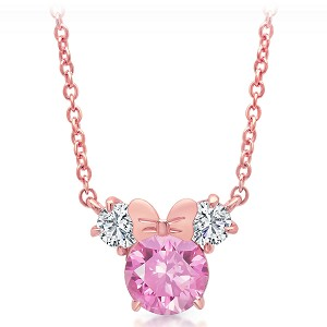 Disney Crislu Necklace - Cubic Zirconia Minnie Icon