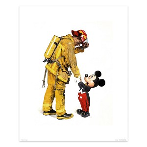 Disney Giclee Canvas - Charles Boyer - Mickey and the Fireman