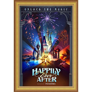 Disney Framed Giclee Canvas - Magic Kingdom Fireworks - Happily Ever After