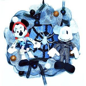 Disney Holiday Wreath - Jack and Sally - Spider
