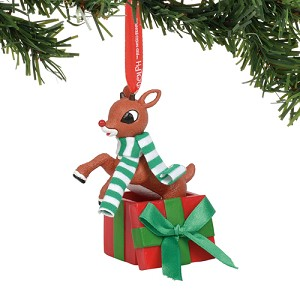 SeaWorld Ornament - Rudolph - Rudolph Jumping out of Gift