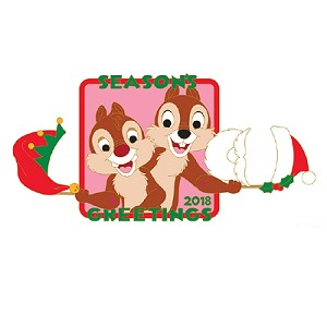 Disney Holiday Pin - 2018 Season's Greeting Chip and Dale