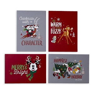 Disney Greeting Cards - Holiday Santa Mickey Mouse and Friends