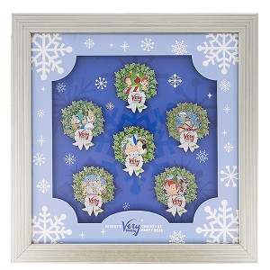 Disney Very Merry Christmas Party Pin Set - 2018 Framed 6 Pin Set
