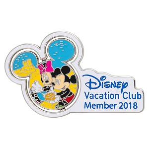 Disney DVC Pin - 2018 Commemorative - Mickey and Minnie
