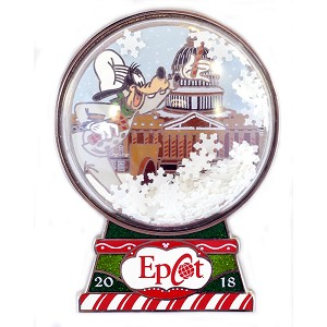Disney Gingerbread House Pin - 2018 Epcot American Pavilion - Goofy
