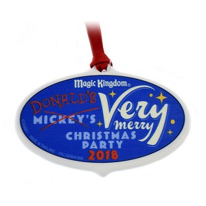 Disney Disc Ornament - 2018 Donald's Very Merry Christmas Party - Passholder
