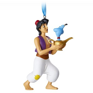 Disney Figure Ornament - Aladdin and Genie Lamp