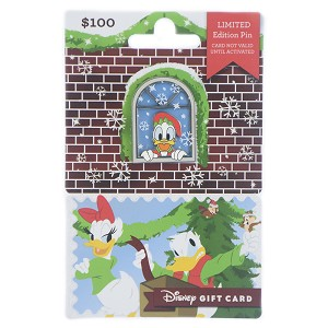 Disney Gift Card with Pin - Holiday 2018 - Donald Duck