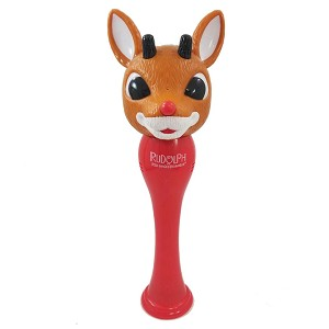 SeaWorld Toy - Character Bubble Glow Wand - Rudolph The Red Nose Reindeer