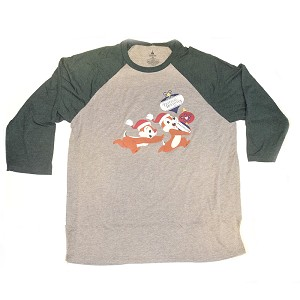 Disney Adult Shirt - Festival Of The Holidays Passholder Raglan - Chip and Dale