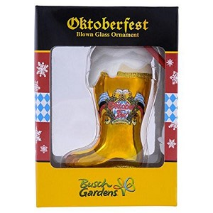 Busch Gardens Ornament - Glass Oktoberfest Boot