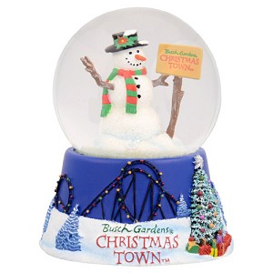 Busch Gardens Snow Globe - Christmas Town Holiday Celebration
