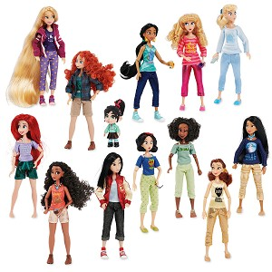 Disney Doll Set - Vanellope with Princesses from Ralph Breaks the Internet