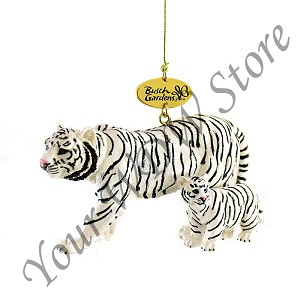 Busch Gardens Ornament - Realistic Siberian Tiger Mommy and Baby