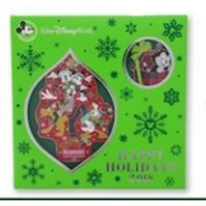 Disney Happy Holidays Pin and Ornament Set - 2018 Mickey and Pals