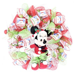 Disney Holiday Wreath - Minnie Mouse - Presents