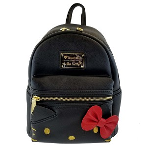 Universal Loungefly Backpack Bag - Hello Kitty - Black