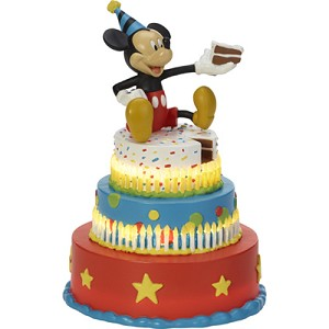 Disney Precious Moments Figurine - Mickey's Birthday Wishes LED Statue