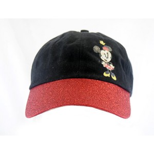Disney Youth Baseball Hat - Minnie Mouse - Red Sparkle Brim