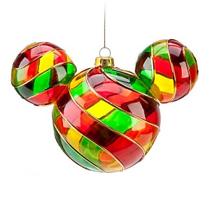 Disney Christmas Holiday Ornament - Mickey Ears Large Red Green Yellow