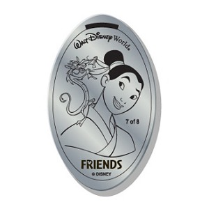 Disney Pressed Quarter - Friends - Mulan and Mushu