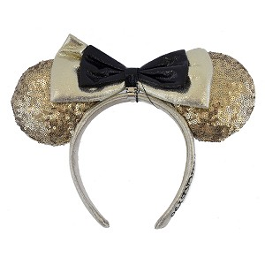 Disney Minnie Ears Headband - Mickey Mouse 90th Anniversary - Gold