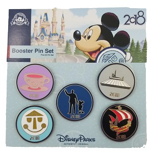 Disney Booster Pin Set - Disney Parks 2018 Booster Set - 5 Pins
