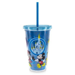 Disney Tumbler with Straw - 2019 Mickey and Friends - Disney World
