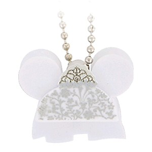 Disney Keychain - Foam Ear Hat Series - Minnie Mouse Bride
