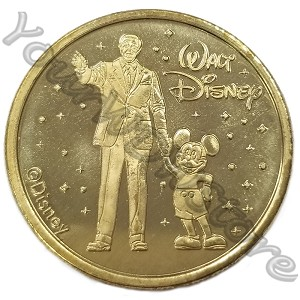 Disney World Pocket Token Coin - Disney Springs - Walt and Mickey - Partners