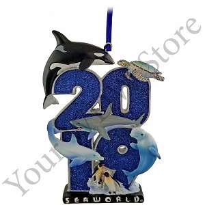 SeaWorld Figurine Ornament - 2019 Sea Life Logo