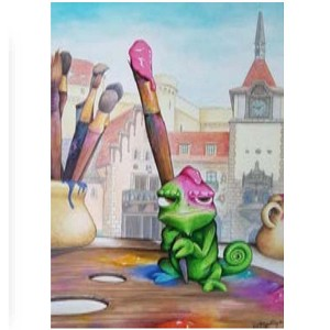 Disney Print - Doug Bolly - A Brush with Greatness