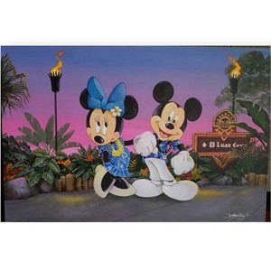 Disney Print - Doug Bolly - Date Night at Luau Cove