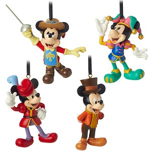 Disney Ornament Set - Mickey Mouse Through the Years Mini Set #3 - 4 pc.