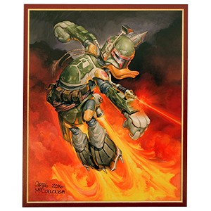 Disney Unstretched Canvas Gallery Wrap - Greg McCullough - Boba Duck - Unsigned