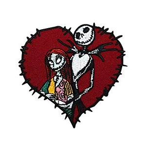 Disney Iron On Patch by Loungefly - Jack and Sally