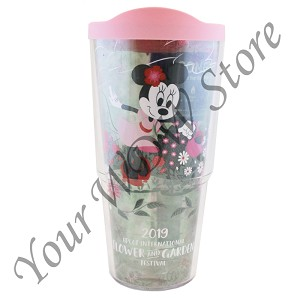 Disney Tervis Tumbler with Lid - Epcot Flower and Garden 2019 Minnie Blooms