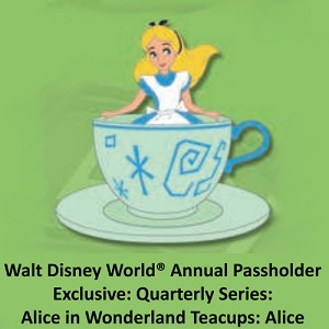 Disney Passholder Pin - 2019 Alice in Wonderland Teacups