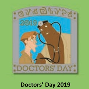 Disney Doctors' Day Pin - 2019 Atlantis Milo and Dr Sweet