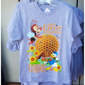 Disney CHILD Shirt - Epcot Flower and Garden 2019 Spike and Donald
