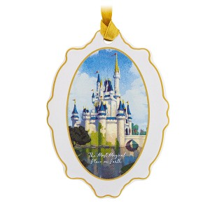 Disney Disc Ornament - Cinderella Castle - Most Magical Place On Earth